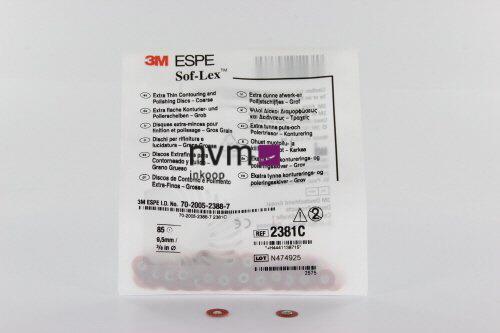 3M ESPE POLIJSTSCHIJFJES SOFLEX XT 2381C KLEIN ROOD GROF 9,5mm (85st)