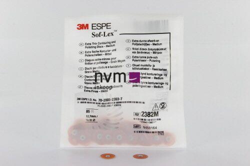 3M ESPE POLIJSTSCHIJFJES SOFLEX XT 2382M GROOT ORANJE MEDIUM 12,7mm (85st)