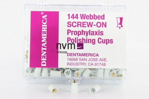 DENTAMERICA SCREWTYPE POLIJSTCUPS WIT/WEBBED WIT (144st)