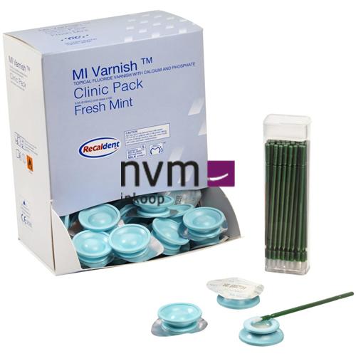 GC MI VARNISH CLINIC PACK MINT UNIT-DOSE (100x0,4ml/100 brushes)