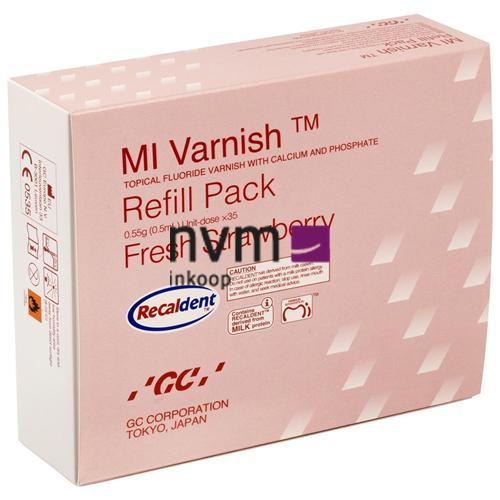 GC MI VARNISH REFILL PACK AARDBEI UNIT-DOSE (35x0,4ml/50 brushes)