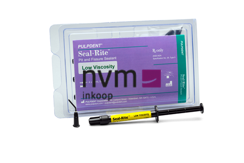 PULPDENT SEAL-RITE PIT & FISSURE SEALANT LOW VISCOSITY (4x1,2ml/tips)