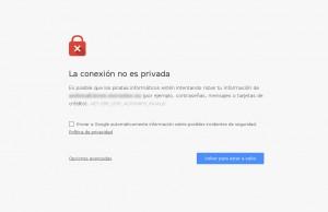 Error de privacidad