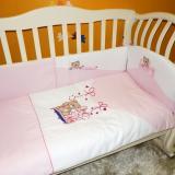 Постельный комплект Pallone, 6 элементов, розовый