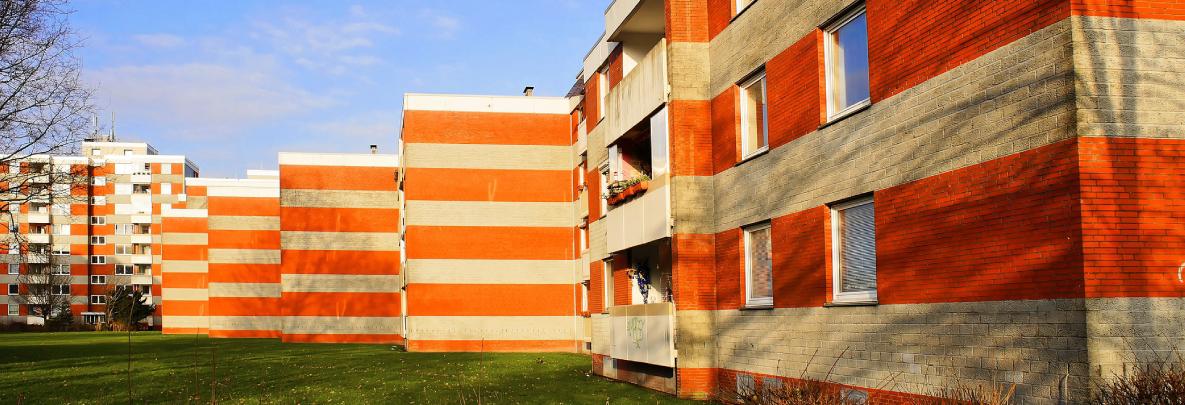 immeuble, maison, habitat
