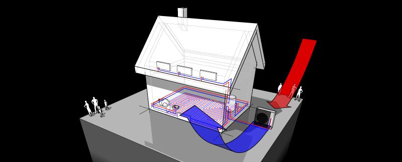 schéma pompe à chaleur hybride
