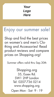 Back Flyer - Summer sale