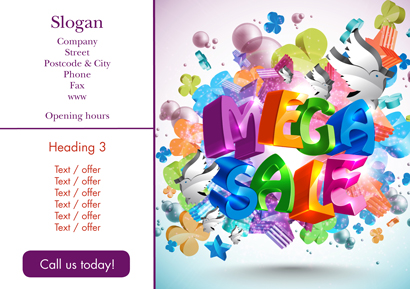 Flyer A5 - Mega Sale
