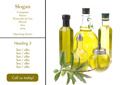 Flyer A5 - Olive oil