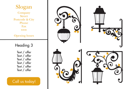 Back Flyer A5 - Outdoor lighting