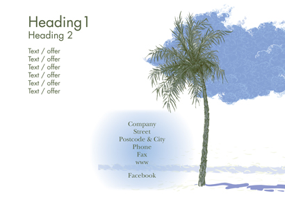 Back Flyer A5 - Palmtree