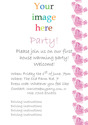 Back Invitation - Summer party