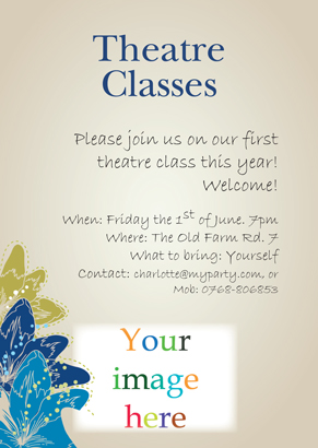 Back Invitation - Theatre class