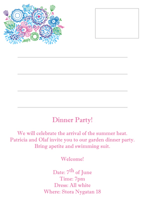 Back Invitation - Party