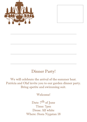 Back Dinner party