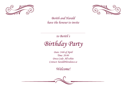 Invitation - Party