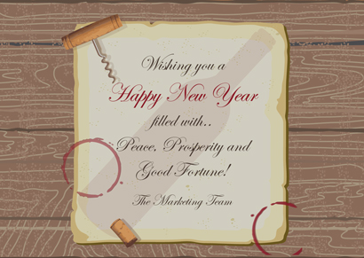 Front New Year Card 10