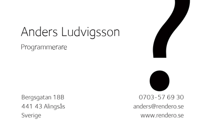 Business card - White