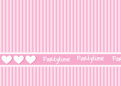 Invitation Card - Pink Stripes