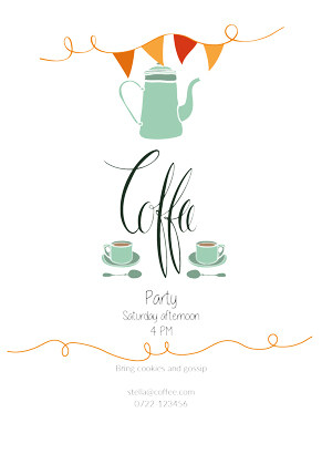 Kaffe invitation