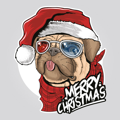 The Santa Bulldog