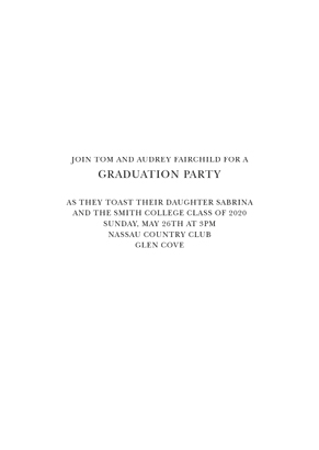 Back Graduation Party