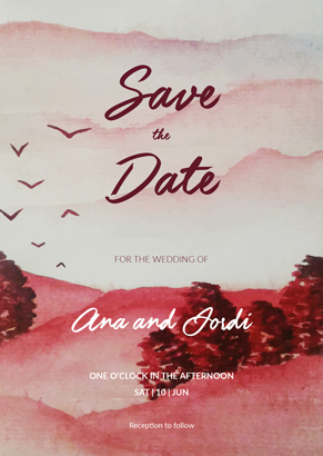 Save the date in red