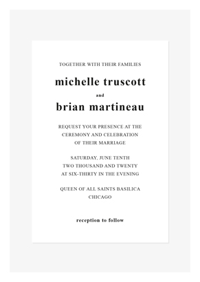 Front Text invitation