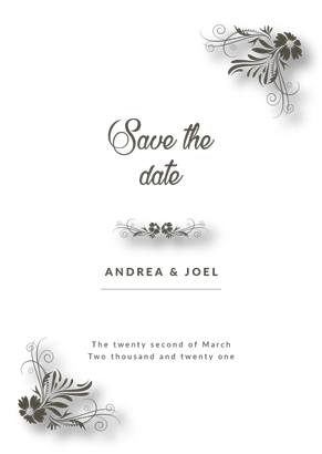 Front Simple invitation