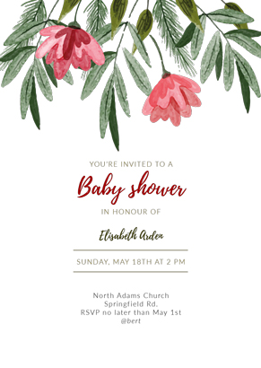 Baptism in flowers