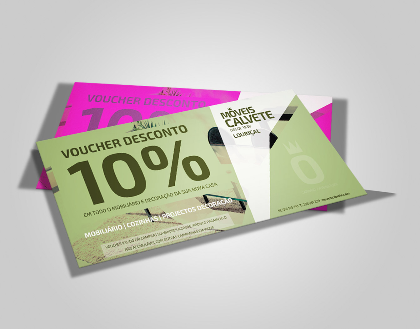 Colorful gift vouchers