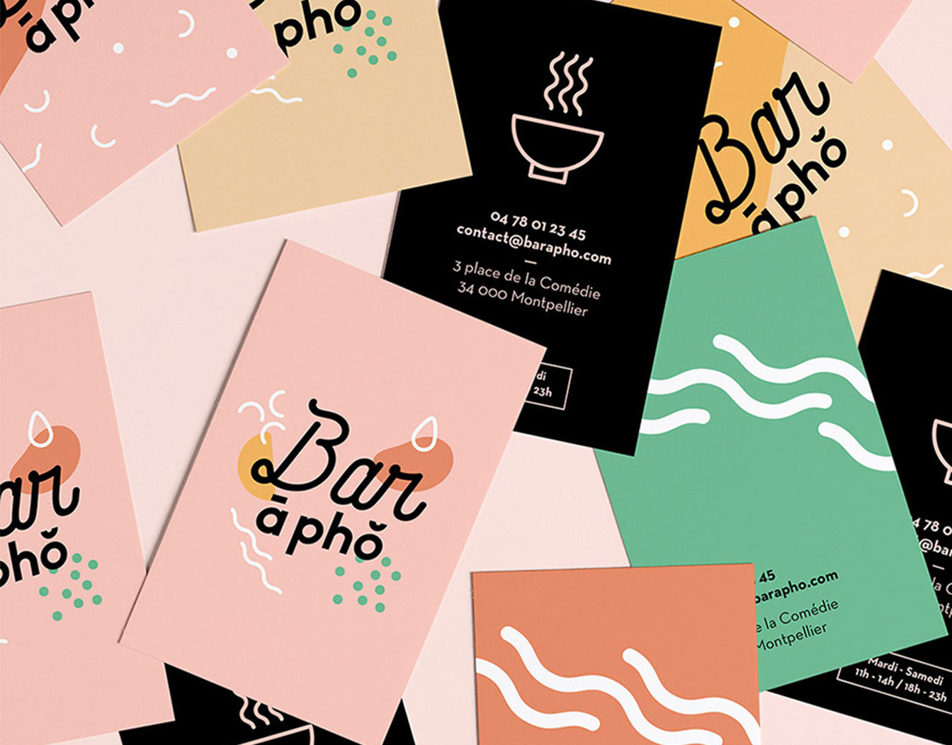 Sample business cards for Asian restaurant