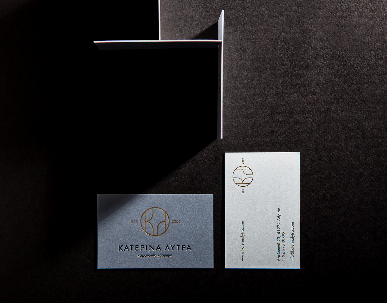 Set of business cards by professional design services