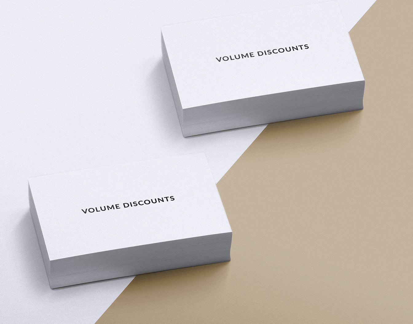White template business cards