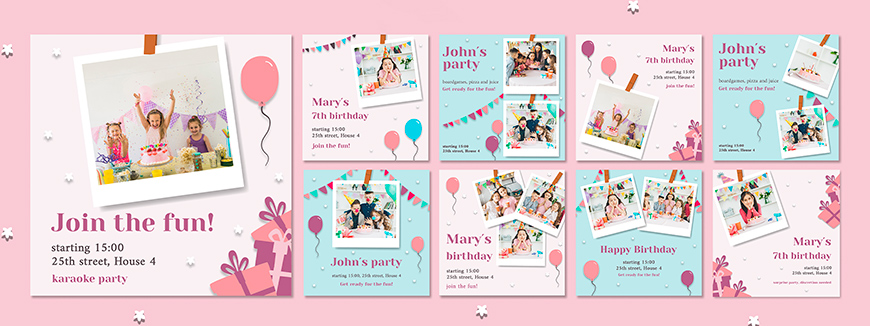 Children's Party Invitations to remember