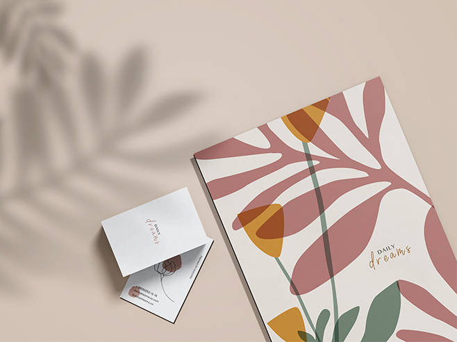 An elegant painted notepad