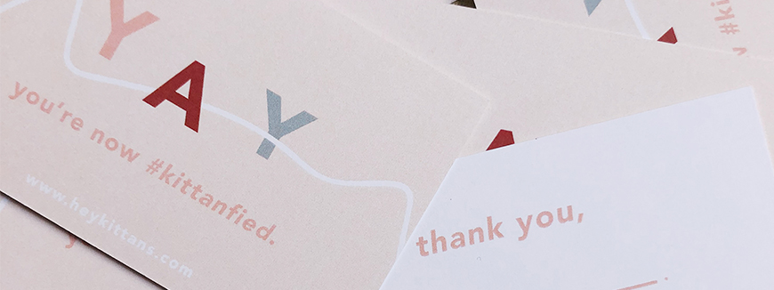 Thank your guests with Thank You Cards