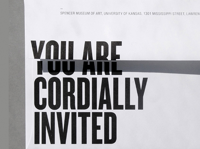 You are invited. Text on white backkground