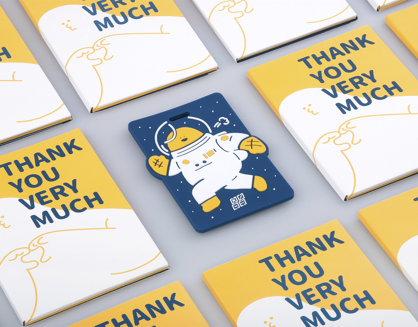 Thank you card space look with astronaut