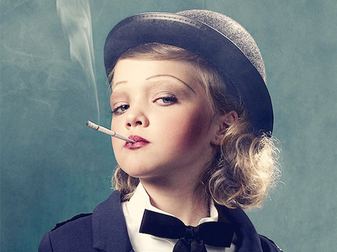 Girl smoking giving inspiration for birthday cards