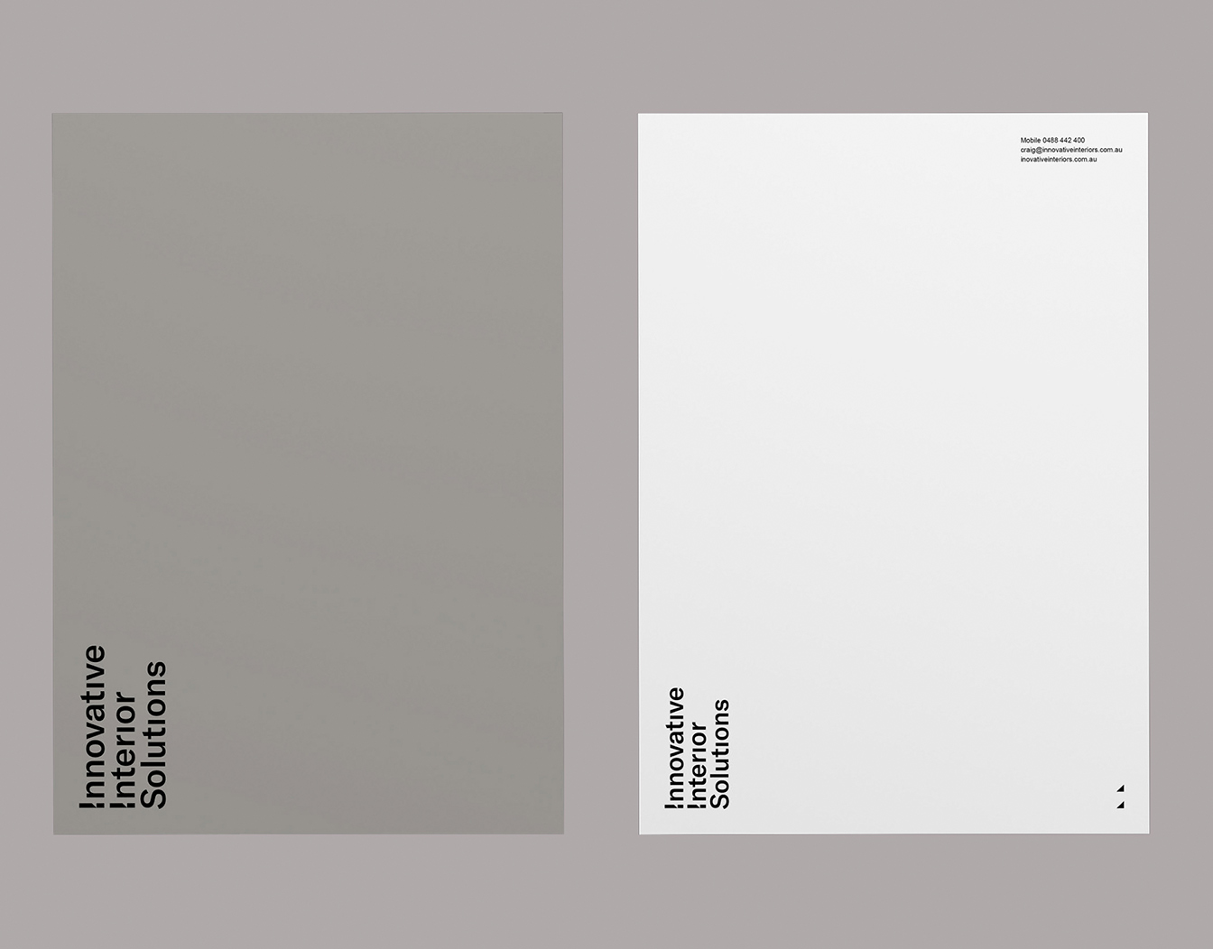 Two letterhead with clear fonts
