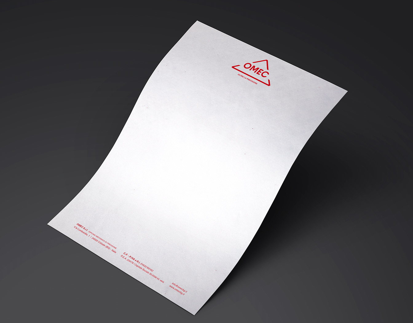 Letterhead sample floating