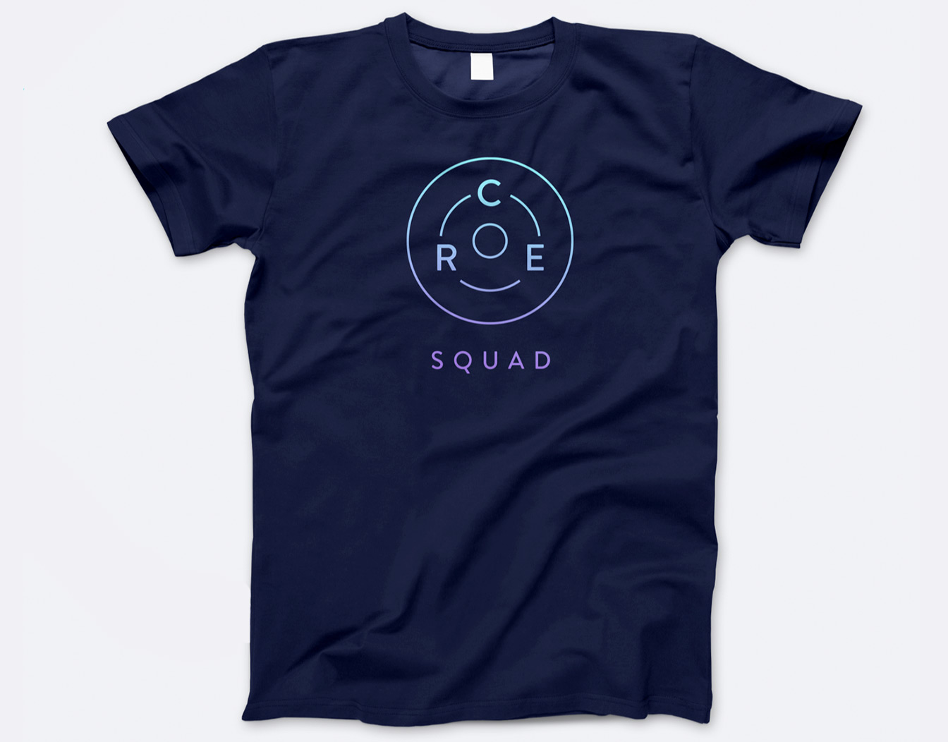 Blue t-shirt with logo
