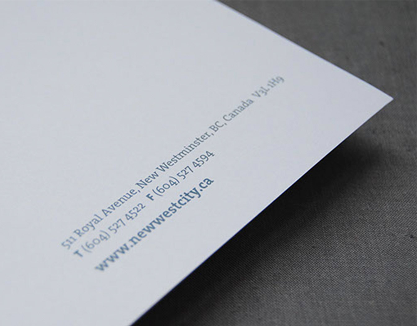 White edge of A4 letterhead