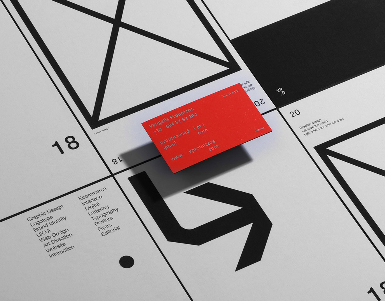 Geometric invitation cards