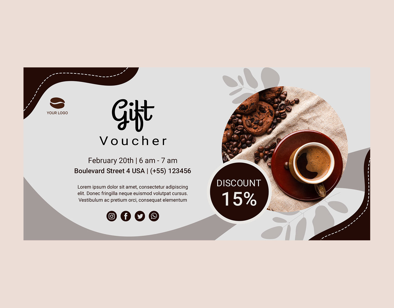Gift card sample for coffee shop