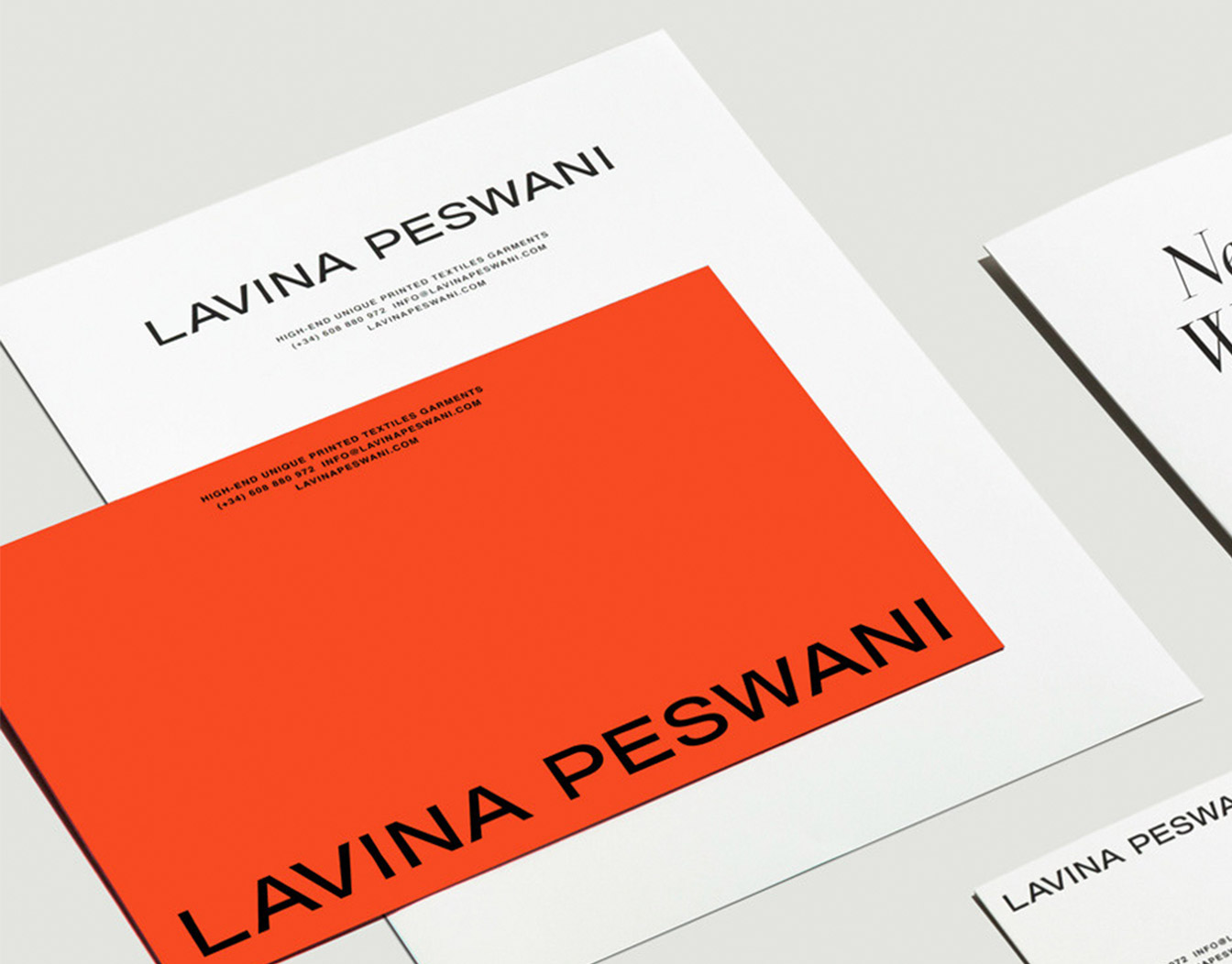 Orange envlope with large typeface