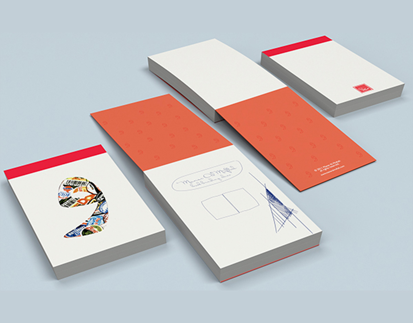 A6 notepads with open cover