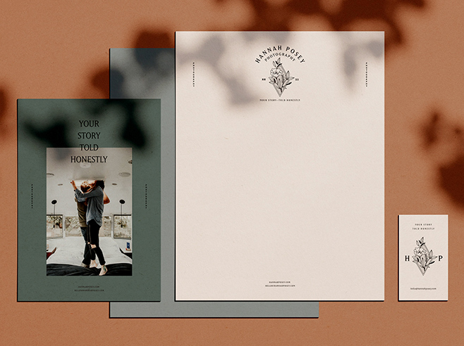 Elegant letterhead with matching stationary