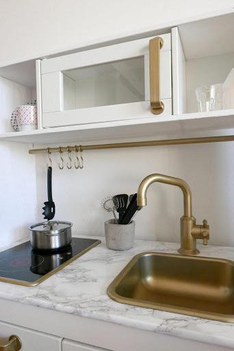 Kjøkken detaljer og vask: 170 Gull Metallic